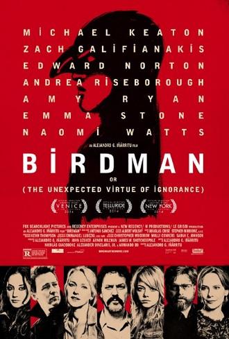 La locandina di Birdman - via IMDb.com