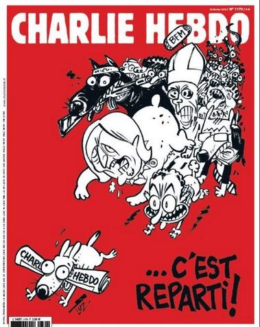La copertina del numero 1180 di Charlie Hebdo