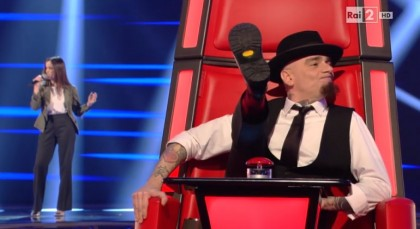 Photocredit: Rai2/The Voice of Italy