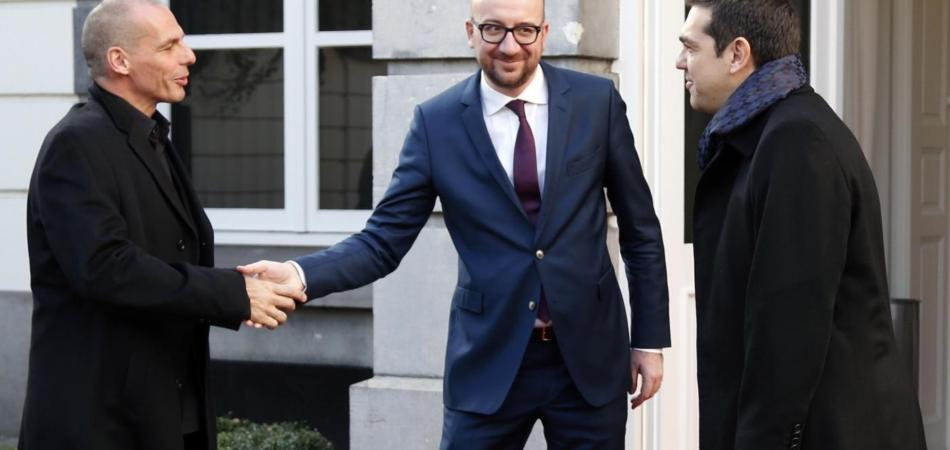 Alexis Tsipras, Yanis Varoufakis e il default della Grecia