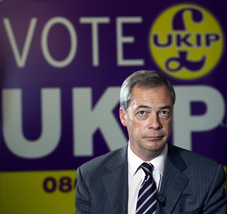 Nigel Farage, leader Ukip