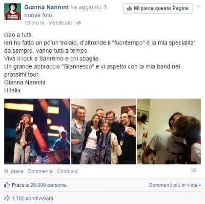 Facebook/Gianna Nannini