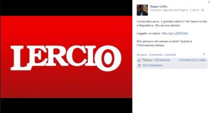 Sì, Grillo cita Lercio