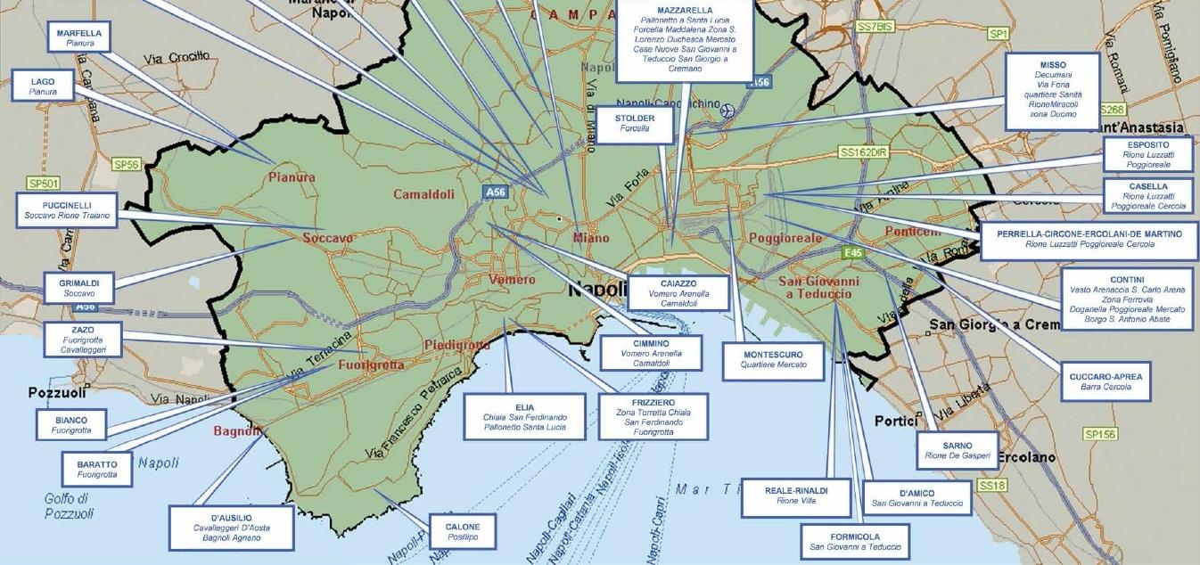 Mafia 39 ndrangheta camorra la mappa dei clan for Planimetrie dei quartieri suocera