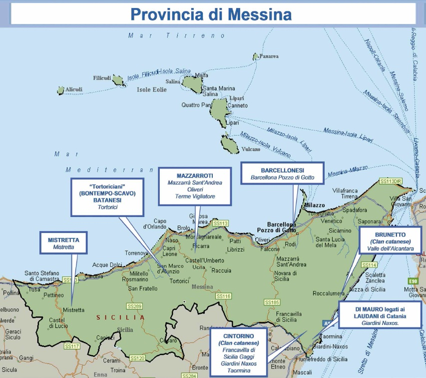 mappa mafia 10 messina