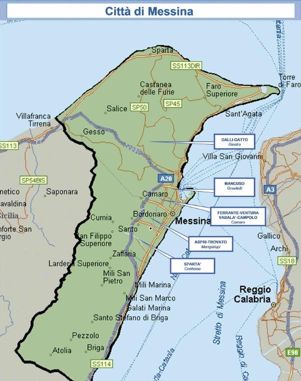 mappa mafia 11 messina