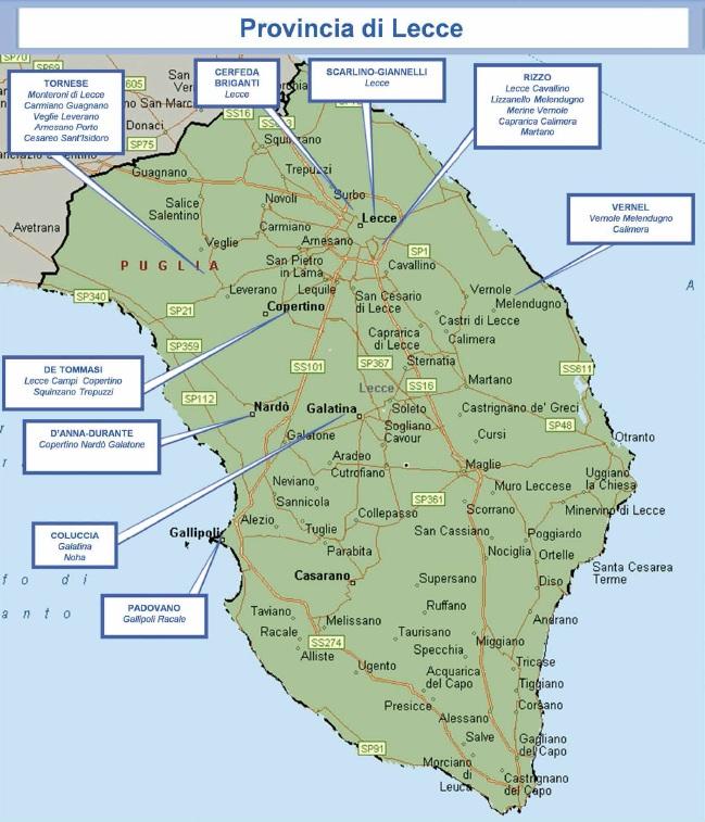 mappa mafia 16 lecce