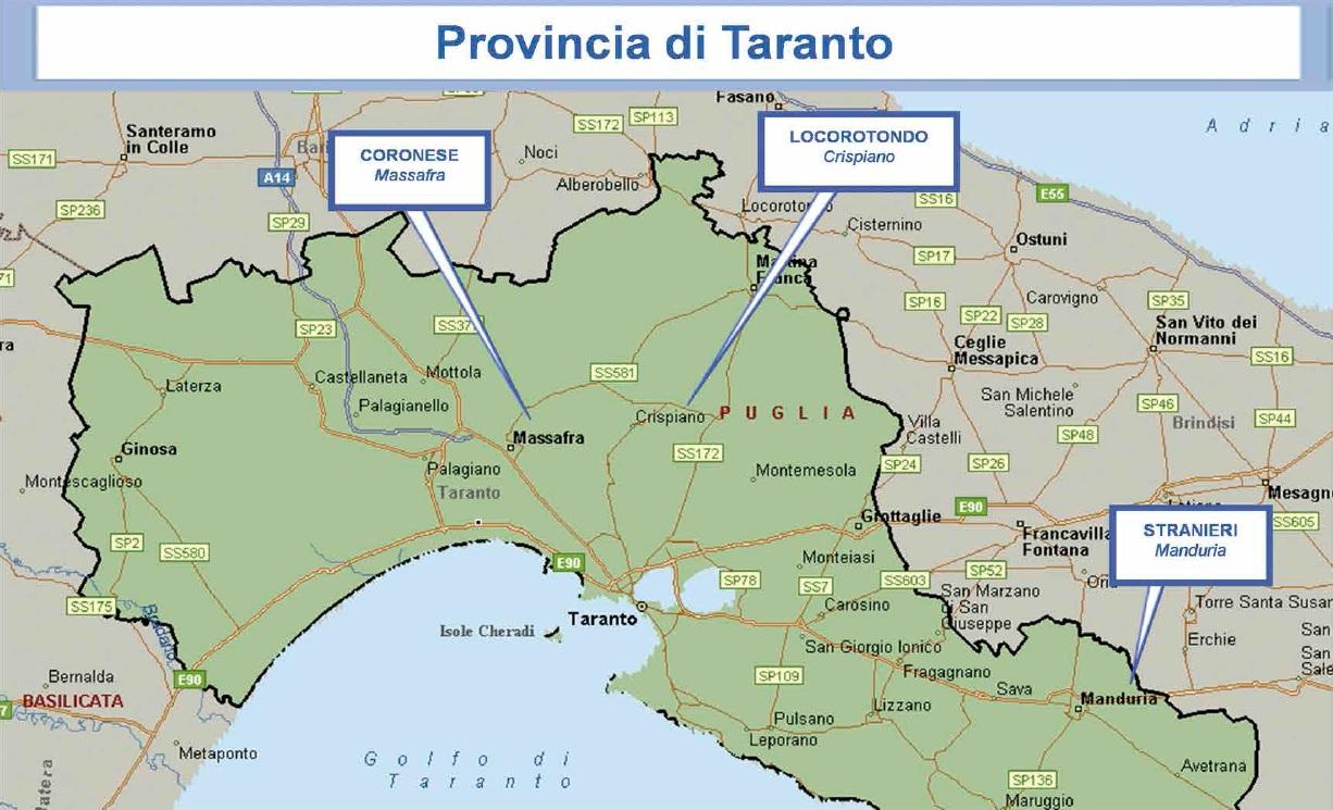 mappa mafia 18 taranto