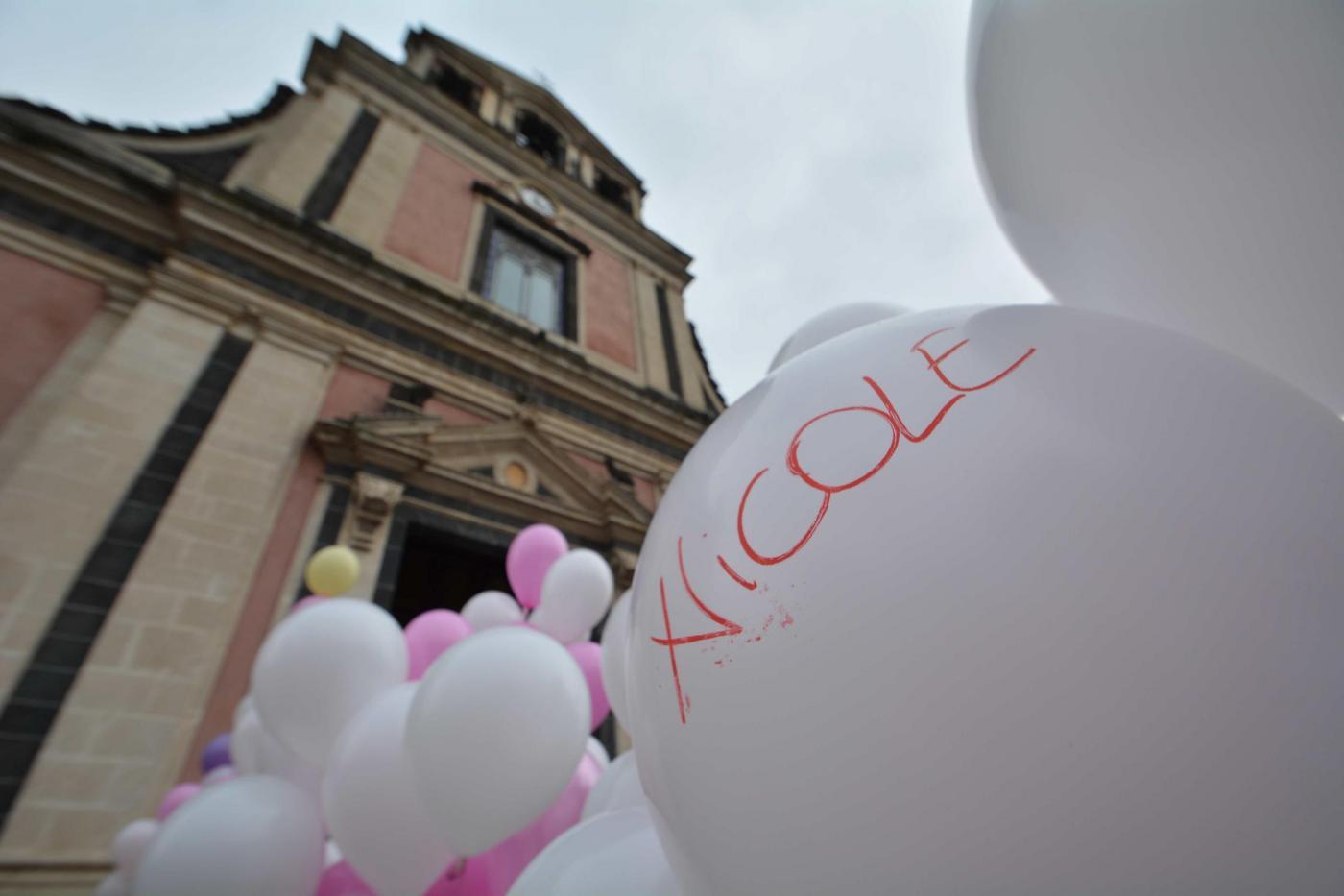 Funerali di Nicole Di Pietro, la neonata morta per malasanità a Catania