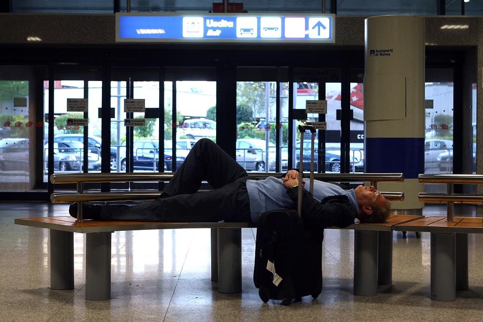 Aeroporto di Fiuimicino - Disagi causati dallo stop ai voli