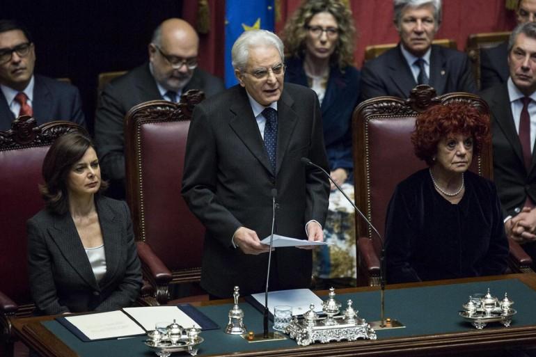 Il testo integrale del primo discorso di Sergio Mattarella presidente ...