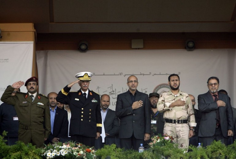 Abdelhakim Belhaj ad una cerimonia a Tripoli (Photo credit JOSEPH EID/AFP/Getty Images)