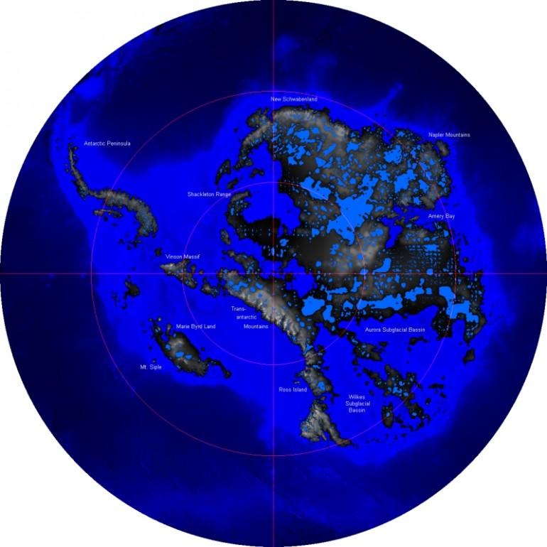 La geologia dell'Antartide, le terre emerse sotto la calotta polare