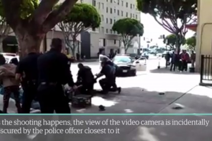 Polizia Los Angeles uccide barbone