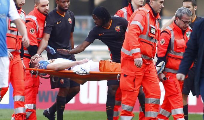 CHIEVO-ROMA (0-0), bruttissimo infortunio per Mattiello
