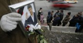 Mosca , camera ardente Boris Nemtsov