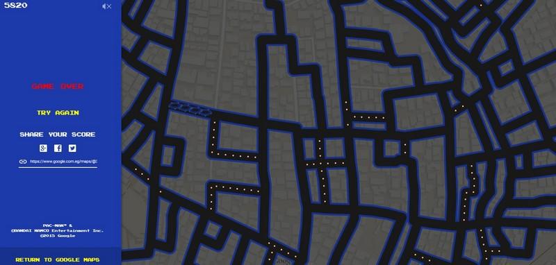 Come giocare a Pac-man su Google Maps