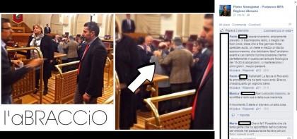 """Il """"simpatico"""" post del consigliere M5S nei confronti del collega Bracco"""
