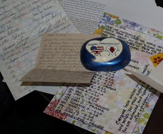 Matsumura riceve messaggi e contributi da tutto il mondo