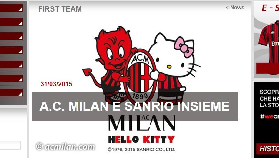 Milan & Hello Kitty: di calcio, sponsor ed altre sciocchezze
