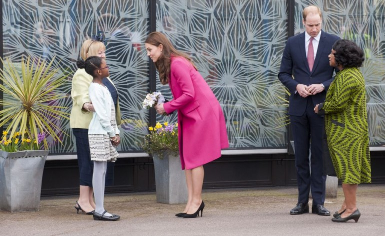 The Duke and Duchess of Cambridge meeting with Baroness Lawrence and 10 year old Mia  niece of Stephen Lawrence visiting  the Stephen Lawrence Centre, Deptford. Picture David Parker 27.03.15