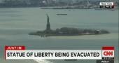 Statua della libertà evacuata