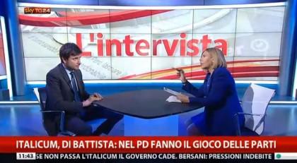 Alessandro Di Battista intervista italicum