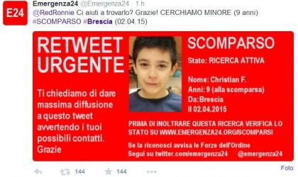 L'annuncio su Twitter dopo la scomparsa di Christian Fernandez