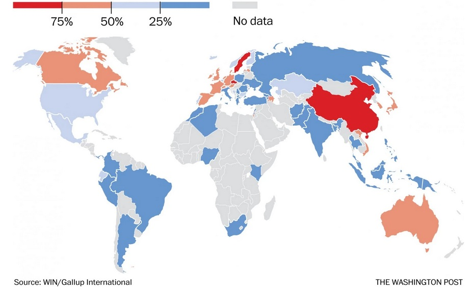 mappa paesi più atei