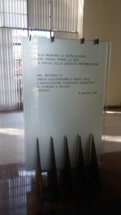 Dentro il tribunale il memorial dei magistrati   assassinati durante gli anni di piombo. Foto di Maghdi Abo Bia/ Giornalettismo