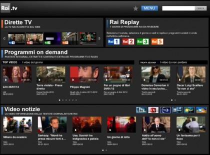 App per vedere la tv RAI.TV