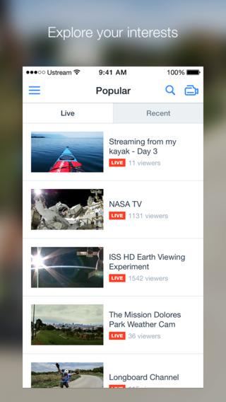 App per vedere la tv USTREAM