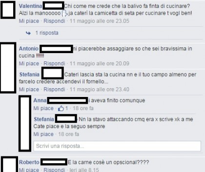 Caterina Balivo commenti facebook