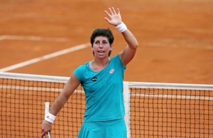 Internazionali Roma 2015 Sharapova Suarez Navarro vince primo set