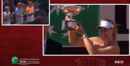 Internazionali Roma 2015 Sharapova vittoria Suarez Navarro coppa