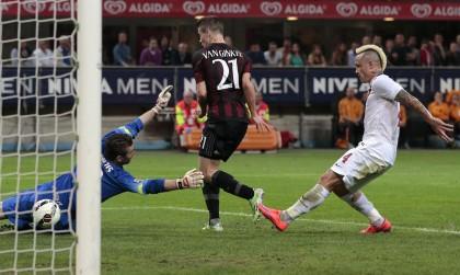 Milan-Roma diretta gol van ginkel