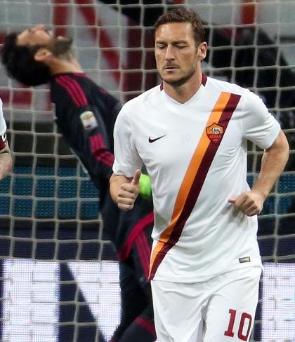 Milan-Roma diretta totti