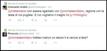 Regionali Puglia 2015 Michele Emiliano tweet
