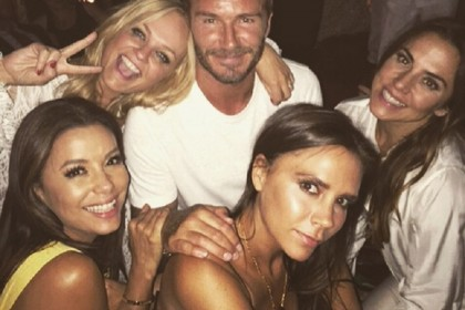 david beckham spice girls festa