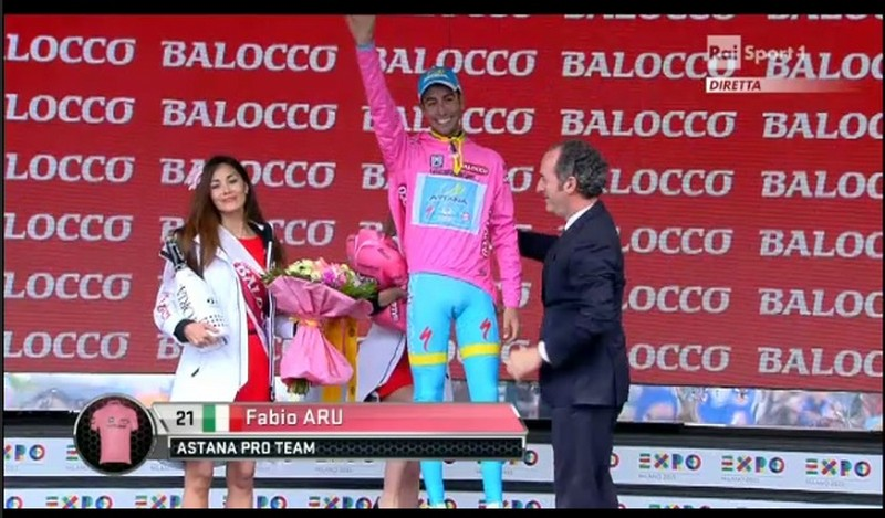 giro d'italia 2015 aru in maglia rosa