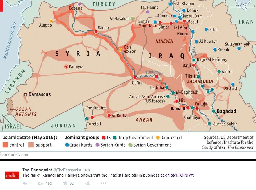 La mappa proposta da Economist
