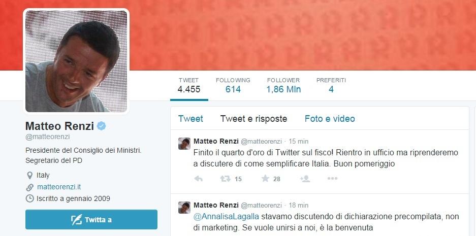 Fisco: Matteo Renzi risponde su Twitter alle domande sul 730 precompilato
