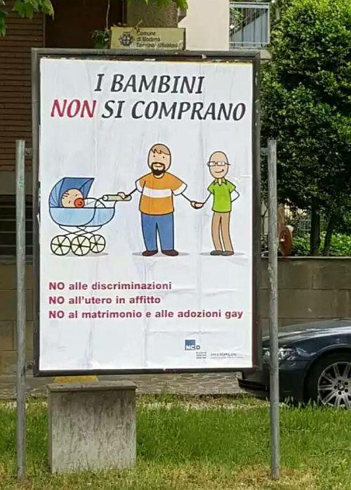 Il manifesto NCD visto per le strade di Modena