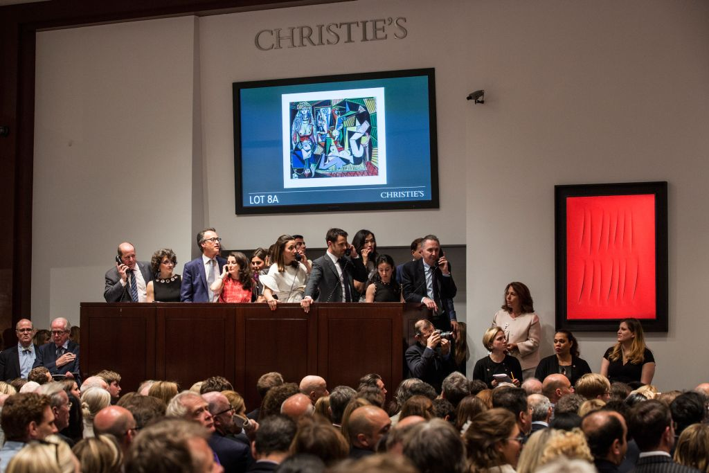 Picasso Painting Breaks Auction Record At Christie's In New York
