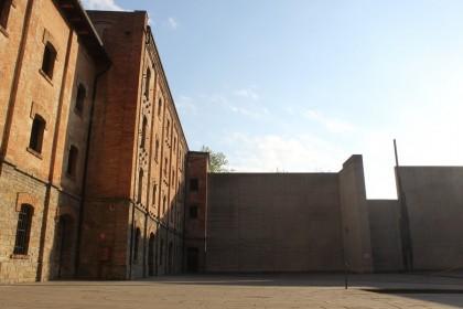 Il cortile principale della Risiera, dove venivano ammassati i prigionieri