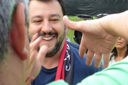 Matteo Salvini: a Pontida 2015 la Lega rimane la Lega, unita dalla ruspa contro Renzi