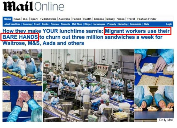 Il titolo originale del Daily Mail