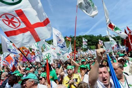 Pontida, il cuore barbarico della Lega Nord