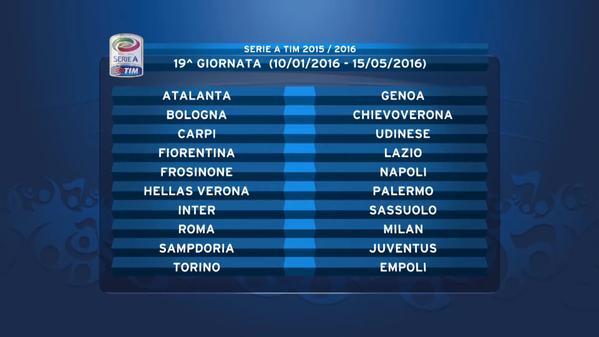 Calendario Napoli E Juve.Calendario Serie A 2015 2016 Roma Juventus Alla Seconda