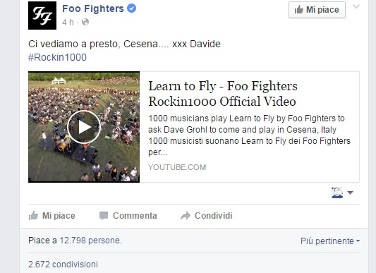 foo fighters cesena